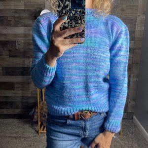 Vintage Homemade Pastel Crew Sweater
